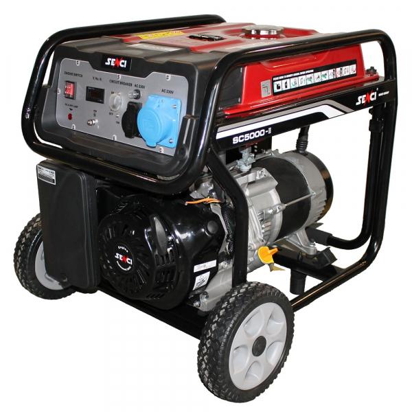 Generator de curent SENCI SC 5000 Putere maxima 4.5 kW monofozat