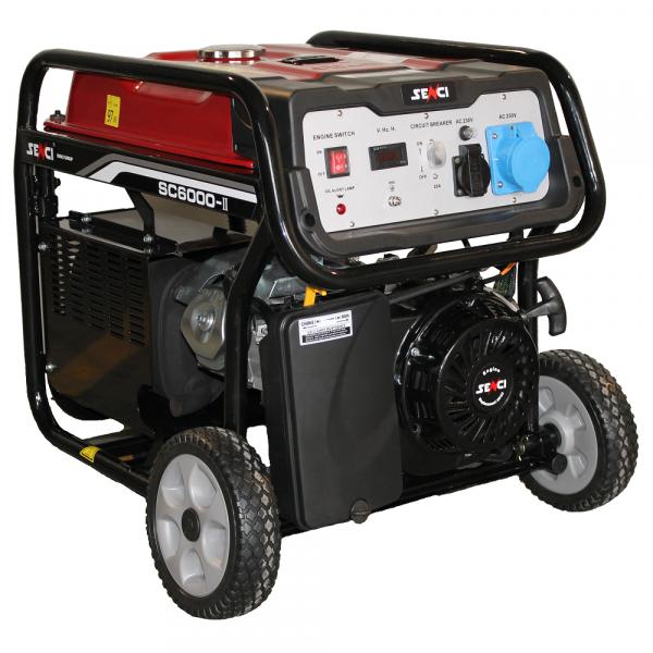 Generator de curent monofazat SENCI SC 6000 E putere maxima 5.5 kW Pornire electrica