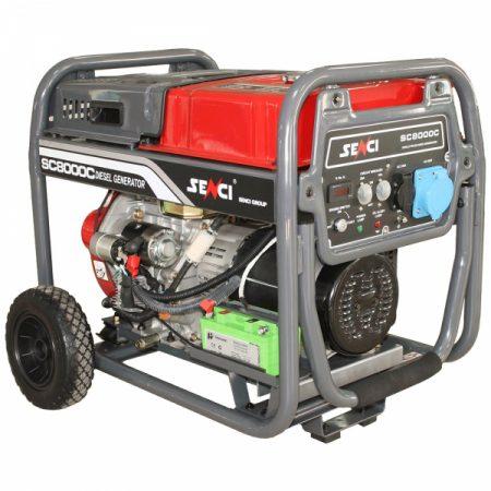 Generator de curent monofazat Senci SC 8000D Putere maxim 7.0 kw diesel
