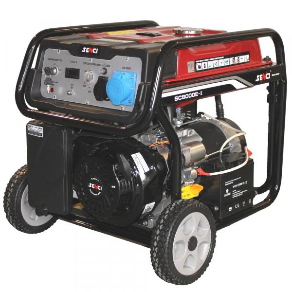 Generator de curent monofazat Senci SC 8000E ATS Putere maxim 7.0 kw cu automatizare